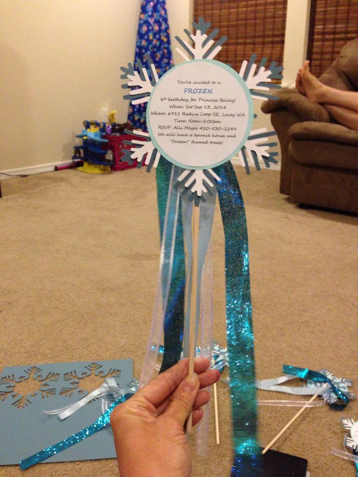 Frozen themed birthday invitation #birthday #frozen #invitation