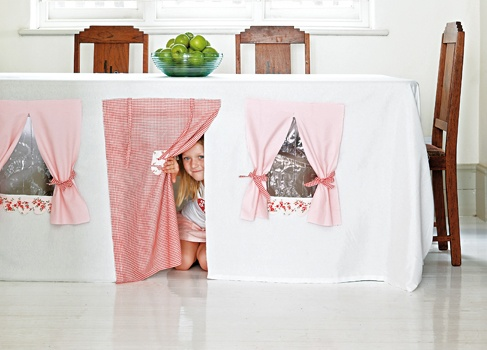 How to make a gorgeous playhouse from your table