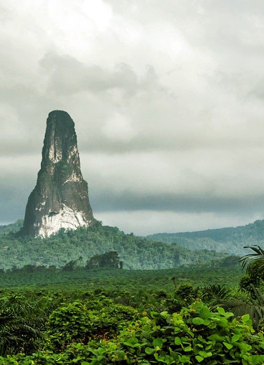 Pico do Cão Grande (Big Dog Peak) - Island in São Tomé and Príncipe, off the coast of Gabon
