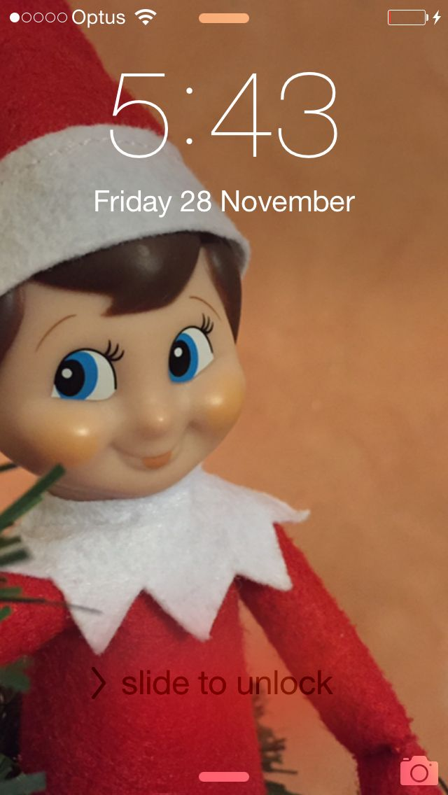 4th night: whilst in our charging station he hacked the screensaver on our phones and iPad #elfontheshelf