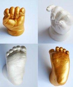 DIY Baby Foot Print | 51% OFF DIY 3D Baby Hand and Foot Print Stamp Kit : 400g Clone Powder ...