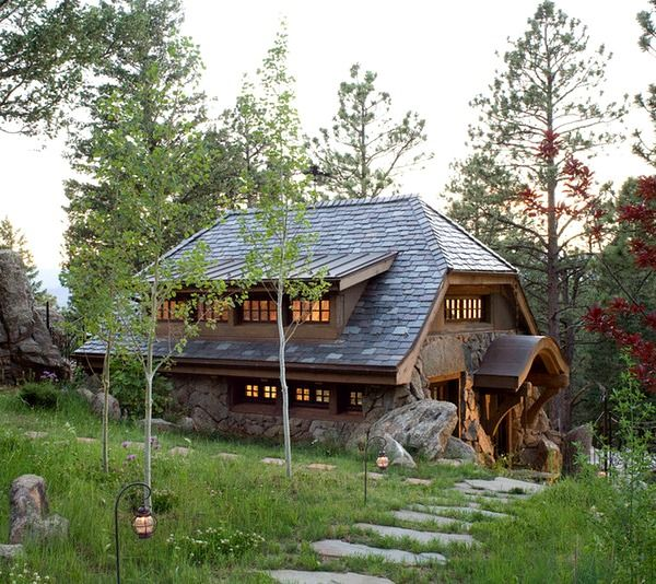 58 best images about ideas for the house on pinterest for Small stone cottage