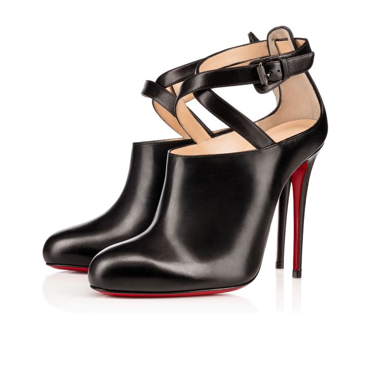 Christian Louboutin | LOURONDA KING CALF/SHINY CALF, BLACK, Calf, Women Shoes, Louboutin. 795€