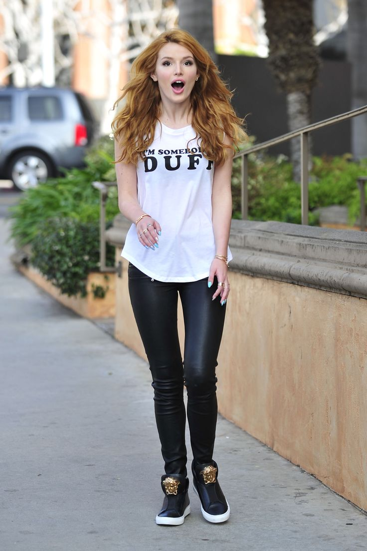 It up bella thorne sports a grown up look in elegant peplum dress - Bella Thorne The Duff Press Day 1 21 2015