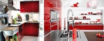 Resultado de imagen de gabinetes de cocina rojos