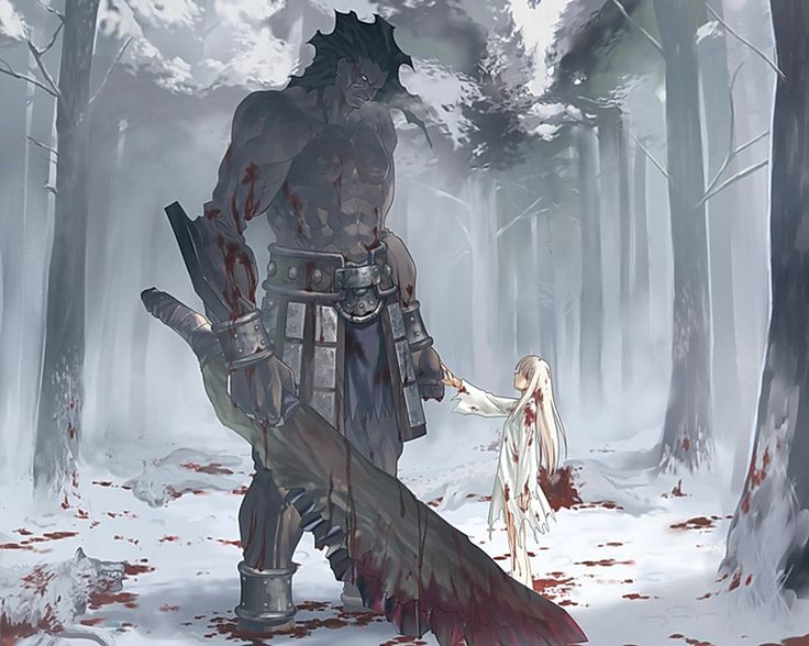 Berserker and Ilya. Fate Stay Night