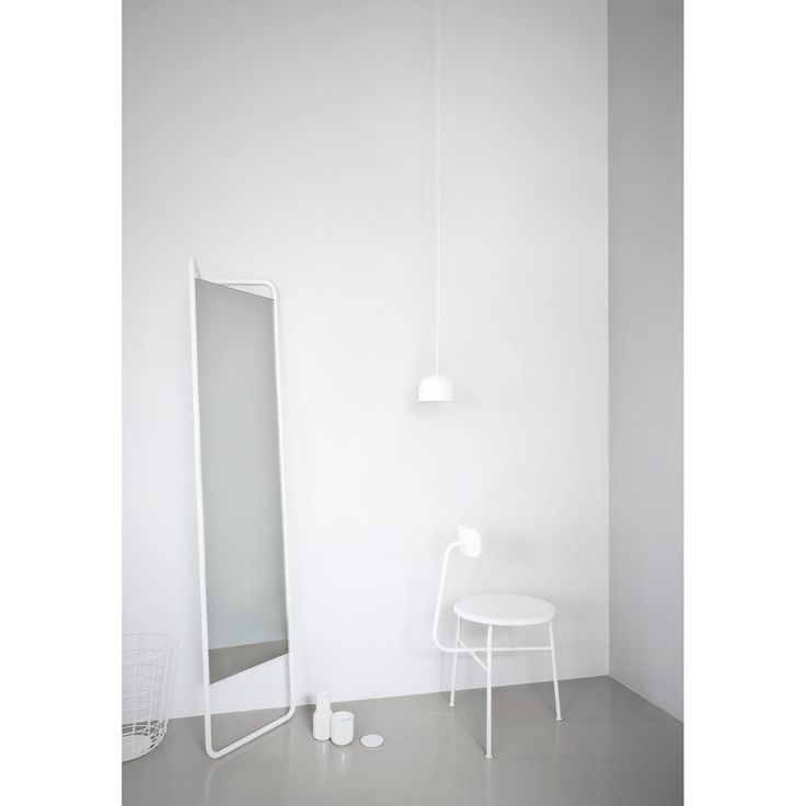 Kaschkasch floor mirror by Menu |  Ideal for homes with limited space, the full-length triangle-shaped mirror slots neatly into corners leaving a small footprint. Both casual and utterly stylish, it is the creation of young German designers Florian Kallus and Sebastian Schneider, who work together as Kaschkasch Cologne.