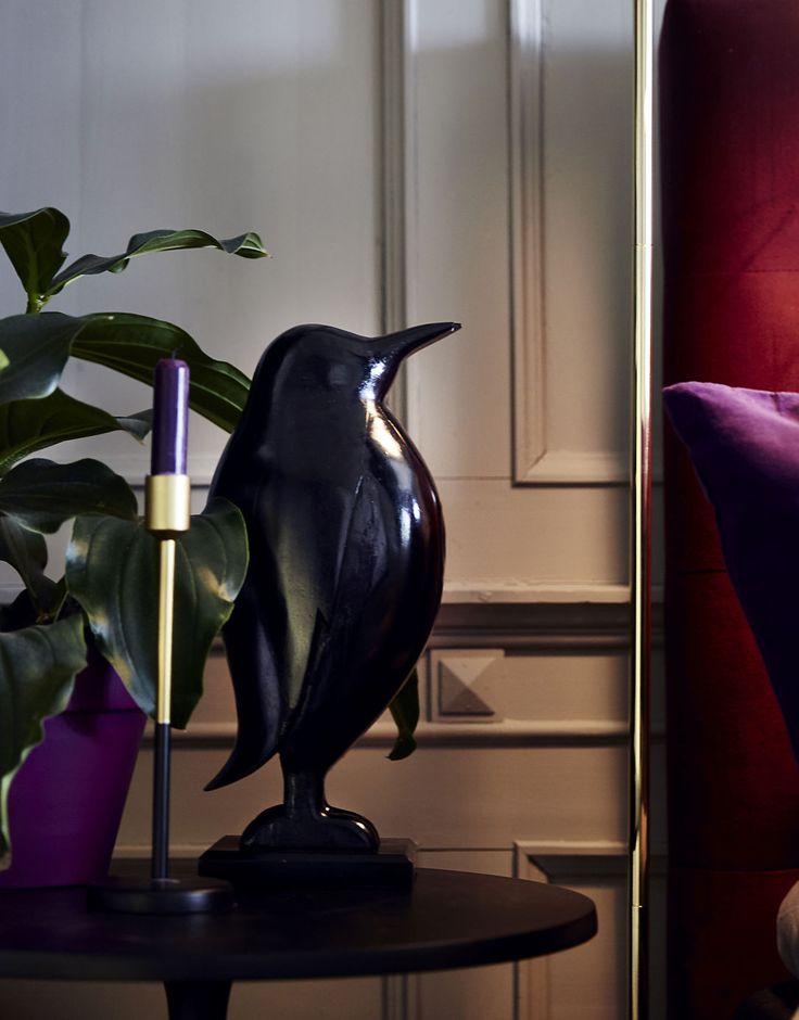 Lyxiga detalj är denna söta pingvin Pelle
