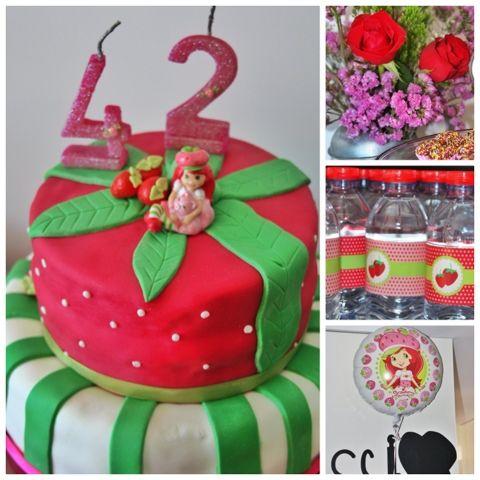+mood: Festa Moranguinho #cake #cakedesign #party #strawberry #docinhodemorango #festa #positivemood #+mood