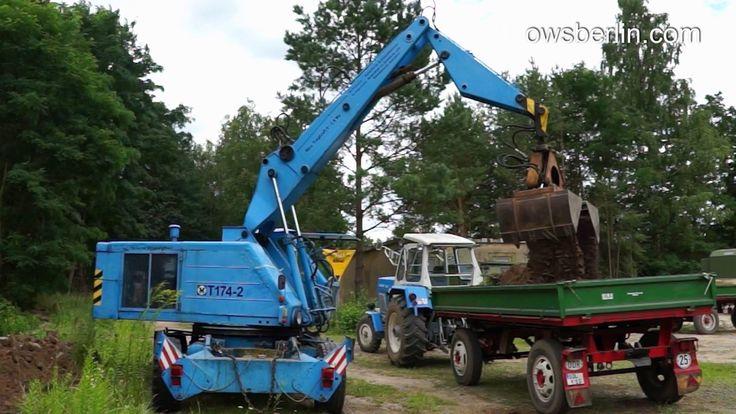 DDR /GDR Mobilbagger/Excavator Fortschritt T 174 - 2. Экскаватор Т174-2 ...