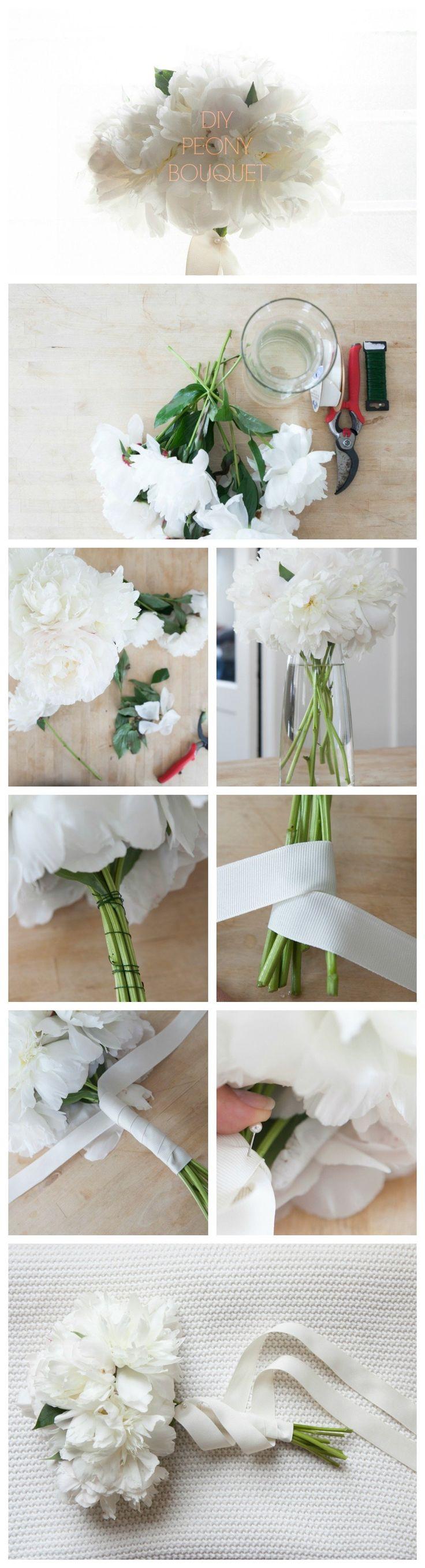 Step By Step Blush Wedding Bouquet