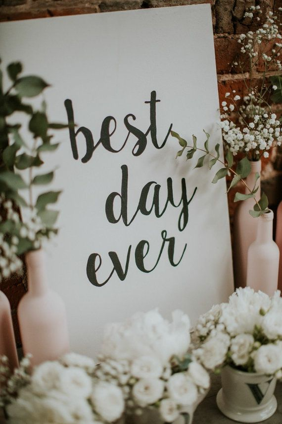 BEST DAY EVER hand painted wooden sign. by PaintedbyKatie on Etsy