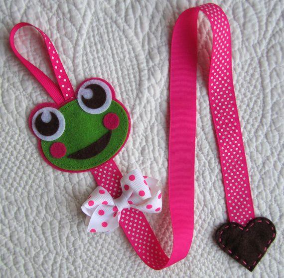 Frog Hair Clip Holder Froggie Clip Holder Hair by BabyWhatKnots