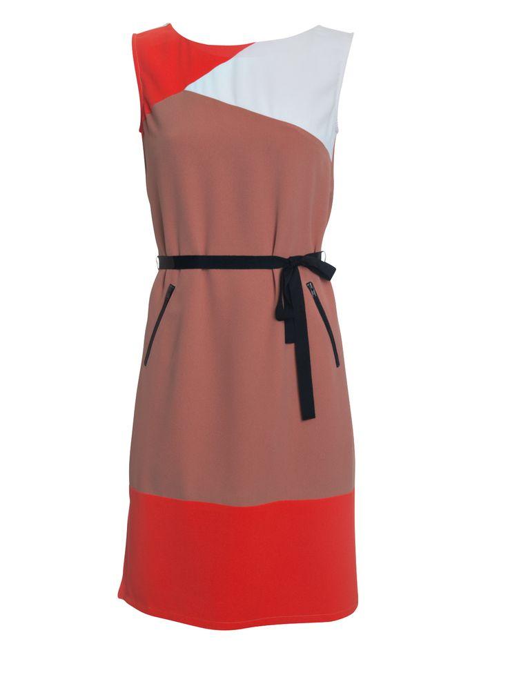 Howard Showers - Copy of Brighton Colourblocked Day Dress in Cinnamon , $229.00 (http://shop.howardshowers.com.au/copy-of-brighton-colourblocked-day-dress-in-cinnamon/)