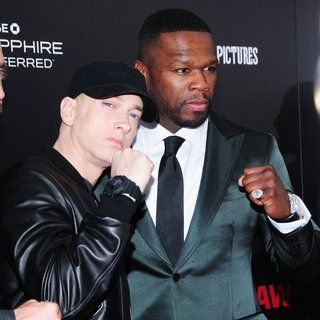 Eminem, 50 Cent in New York Premiere of Southpaw for THE WRAP - Arrivals