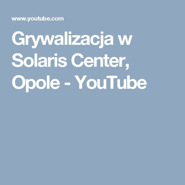 Grywalizacja w Solaris Center, Opole - YouTube