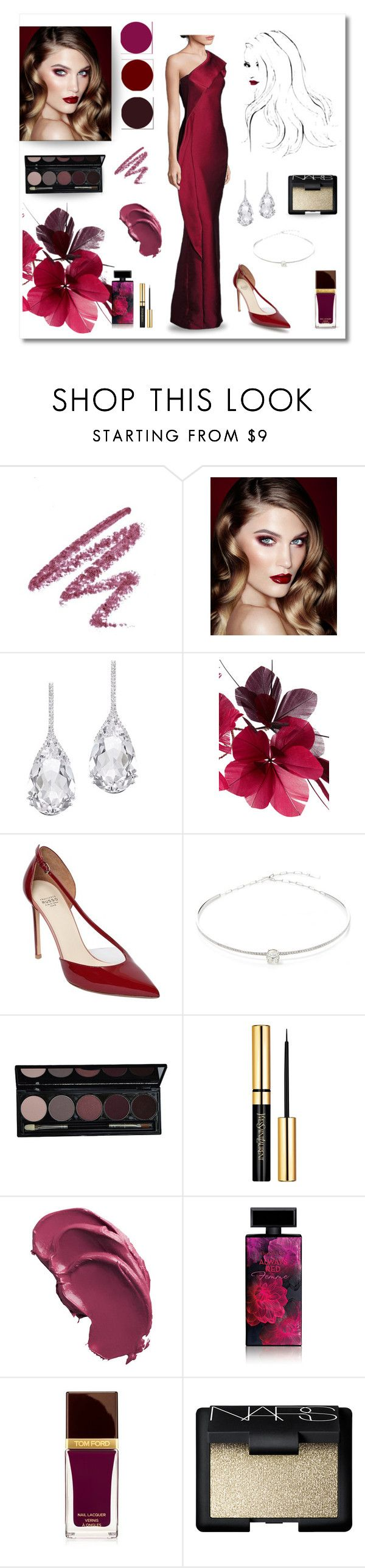 """Red Carpet look"" by magnolialily-prints ❤ liked on Polyvore featuring Charlotte Tilbury, Plukka, Valentino, Francesco Russo, Jack Vartanian, Elizabeth Arden, Tom Ford, NARS Cosmetics and ML Monique Lhuillier"