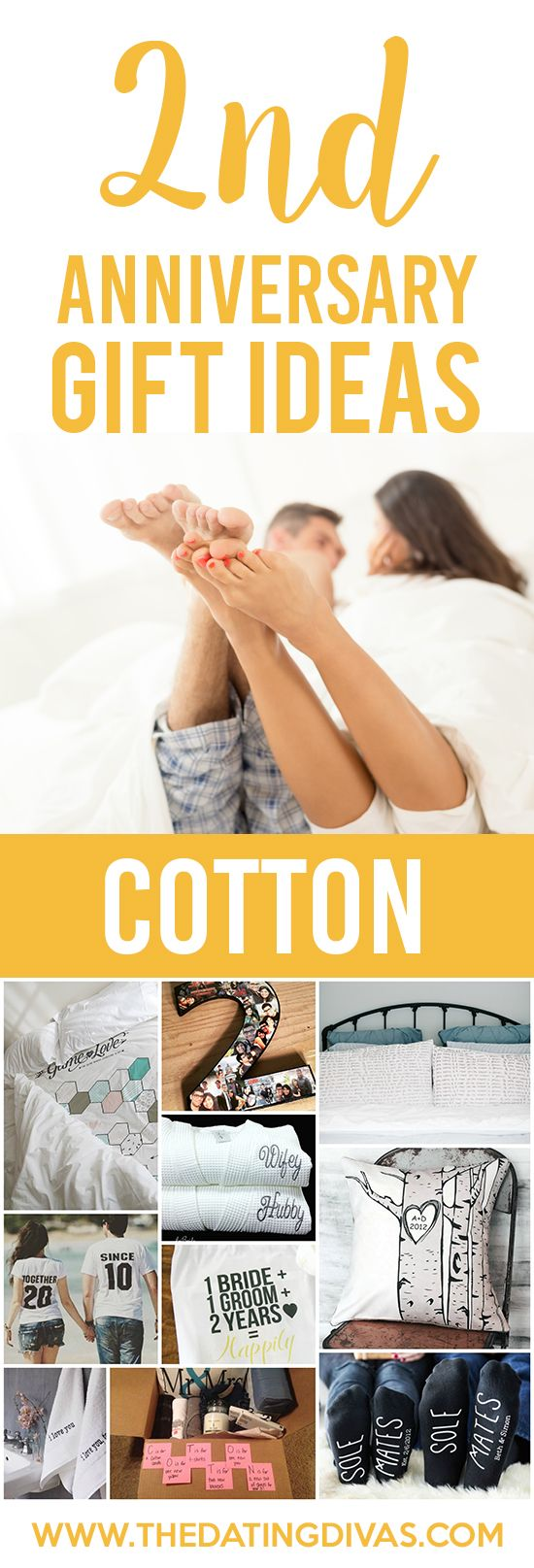 2nd Anniversary Gift Ideas for your COTTON anniversary