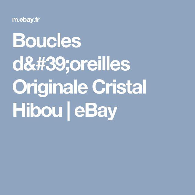 Boucles d'oreilles Originale Cristal Hibou   eBay