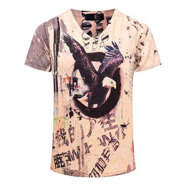 Bald Eagle  In A Circle 3D Print Short Sleeve T-Shirt