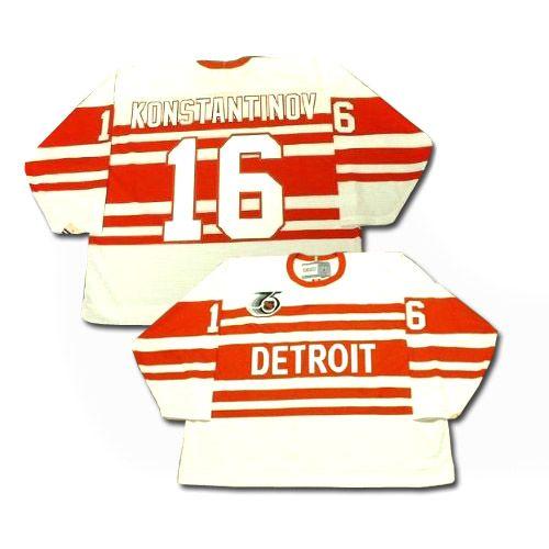 Detroit Red Wings Vladimir Konstantinov 16 White Authentic Jersey Sale