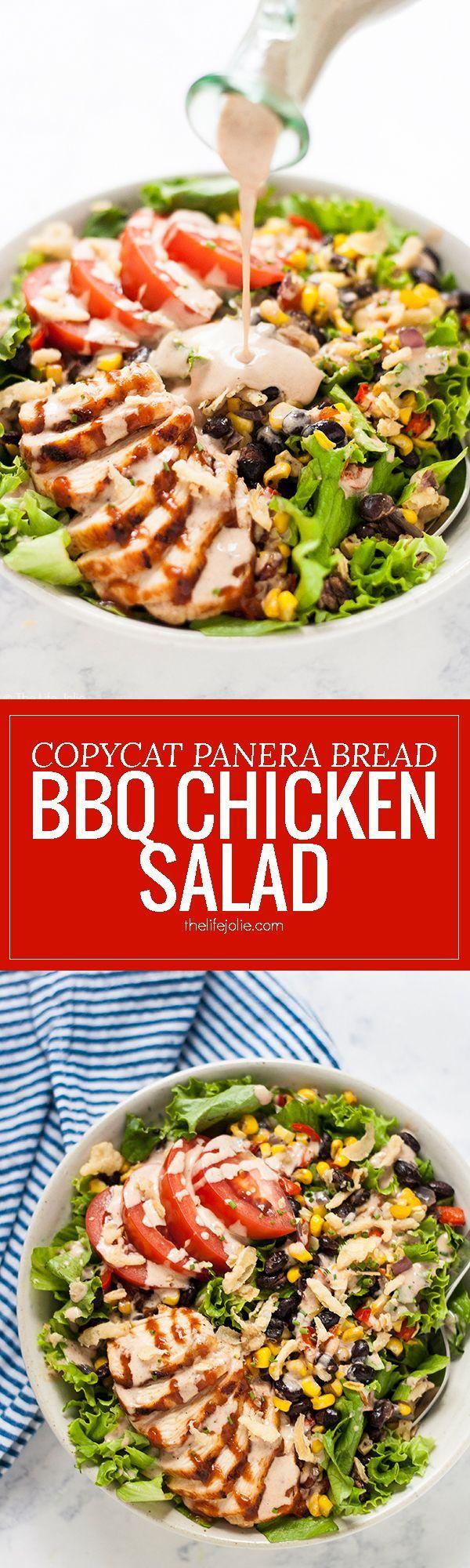 This Copycat Panera Bread BBQ Chicken Salad recipe…