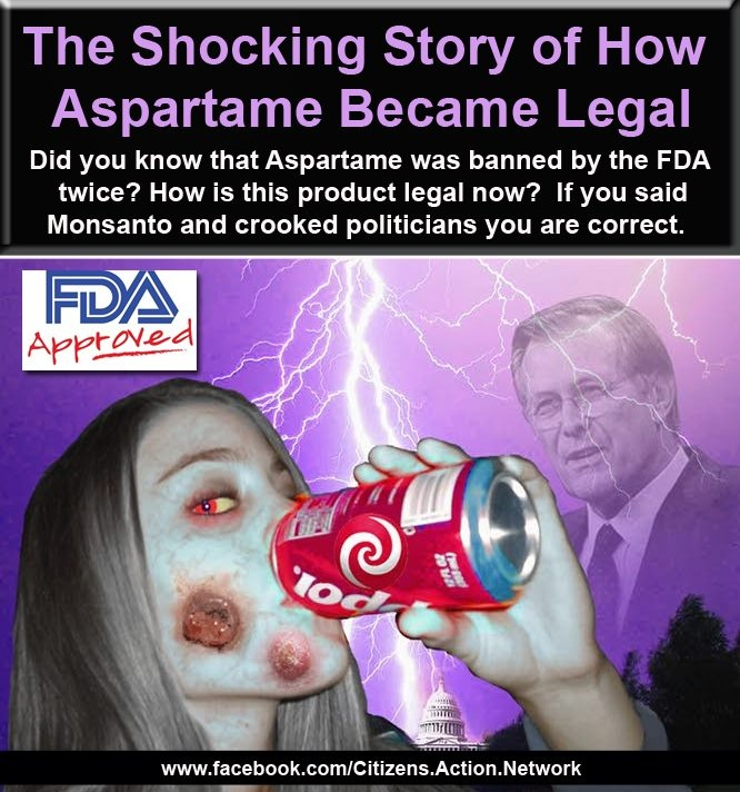 How aspartame became legal. Crooked politicians? More like evil and God hating politicians.