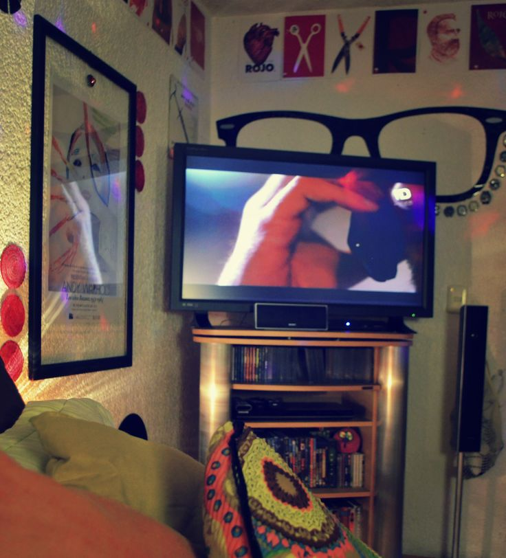 """""""The TV Zone""""  The glasses behind the TV looks completely great!  #Hipster #Glasses #EtnoHipster #Mexican #Warhol #VicenteRojo"""