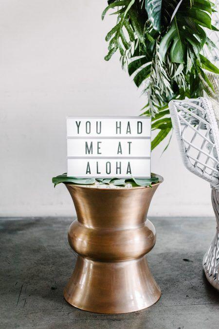You had me at aloha lightbox