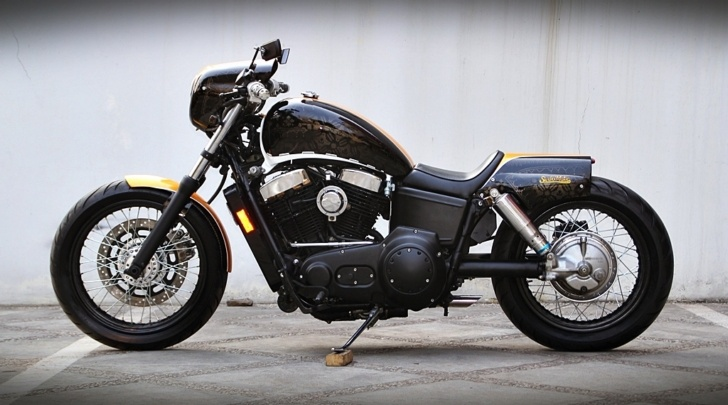 Indonesian Studio Motor Insanely Cool Honda Shadow 1100