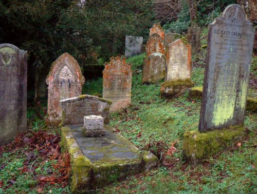 Graveyard of St-Just-in-Roseland,  Cornwall, England. Cornwall has fabulous old gothic graveyards.