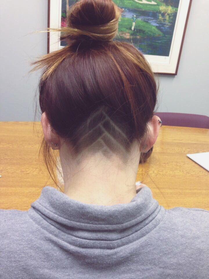 Women's shaved undercut
