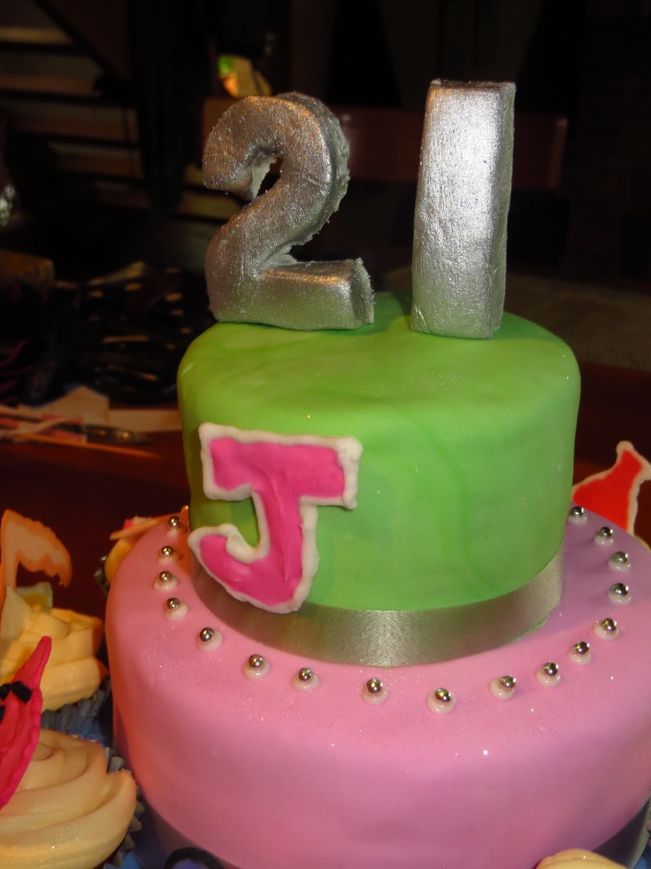 gorgeous pastel 21st cake for a Brunch