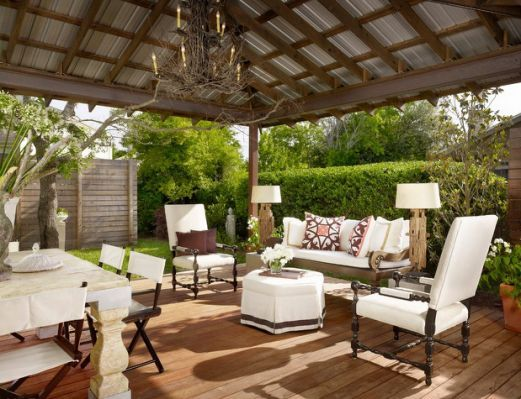 outdoor ottomans living room contemporary