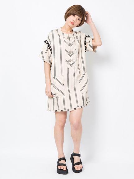 FRINGE DRESS WITH CONCHO(カットワンピース) MILKFED.(ミルクフェド) calif(カリフ) B's INTERNATIONAL公式通販サイト