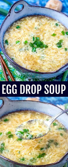 Quick, easy and comforting this Egg Drop Soup Recipe is as simple as they come with great flavor that will warm you up on a cool day! #soup #chinese #easy #eggdropsoup #takeout