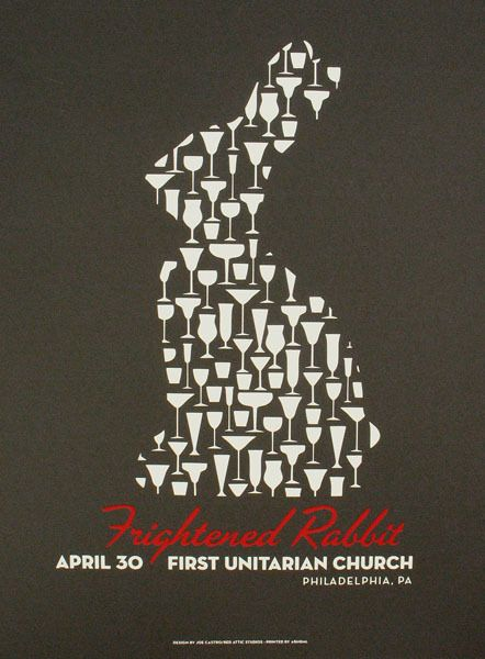 frightened rabbit. i love this poster.