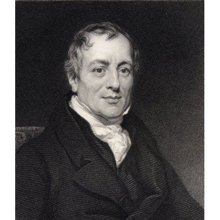 David Ricardo 1772-1823 English Economist Engraved By W Holl From The Book Historical Sketches Of Statesmen Published London 1843 Canvas Art - Ken Welsh Design Pics (13 x 16)