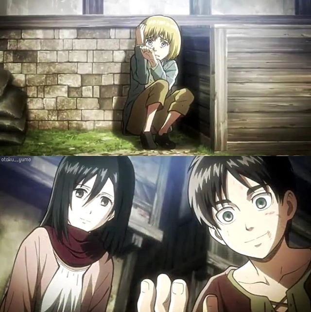 I Love How This Scene With Our Fav Trio Is Full Of Hope Nostalgia And Also A Realization From Eren Wha Attack On Titan Anime Eren And Mikasa Attack On Titan
