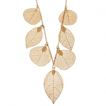 £22 Gold Skeleton Leaf Necklace | Necklaces for Women | Fashion, Silver, Gold, Pearl, Semi Precious Necklaces | Style | Jewellery Online | Buy Women's Fashion & Designer Jewellery UK | Oliver Bonas