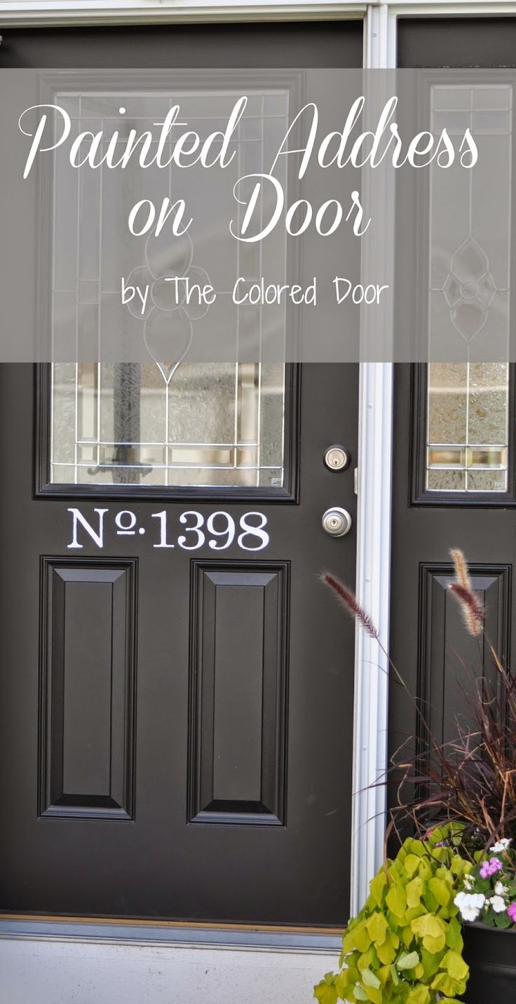 Best 25 Front Door Numbers Ideas On Pinterest House