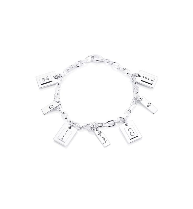 Symbols Bracelet - Silver - Bracelet - Efva Attling