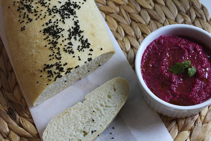 Turkish Bread with Beetroot Dip | The Wooden Spoons