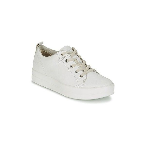 Timberland MAYLISS OX Shoes (Trainers) ($140) ❤ liked on Polyvore featuring shoes, sneakers, trainers, white, women, timberland shoes, white trainers, timberland trainers, white sneakers and timberland footwear