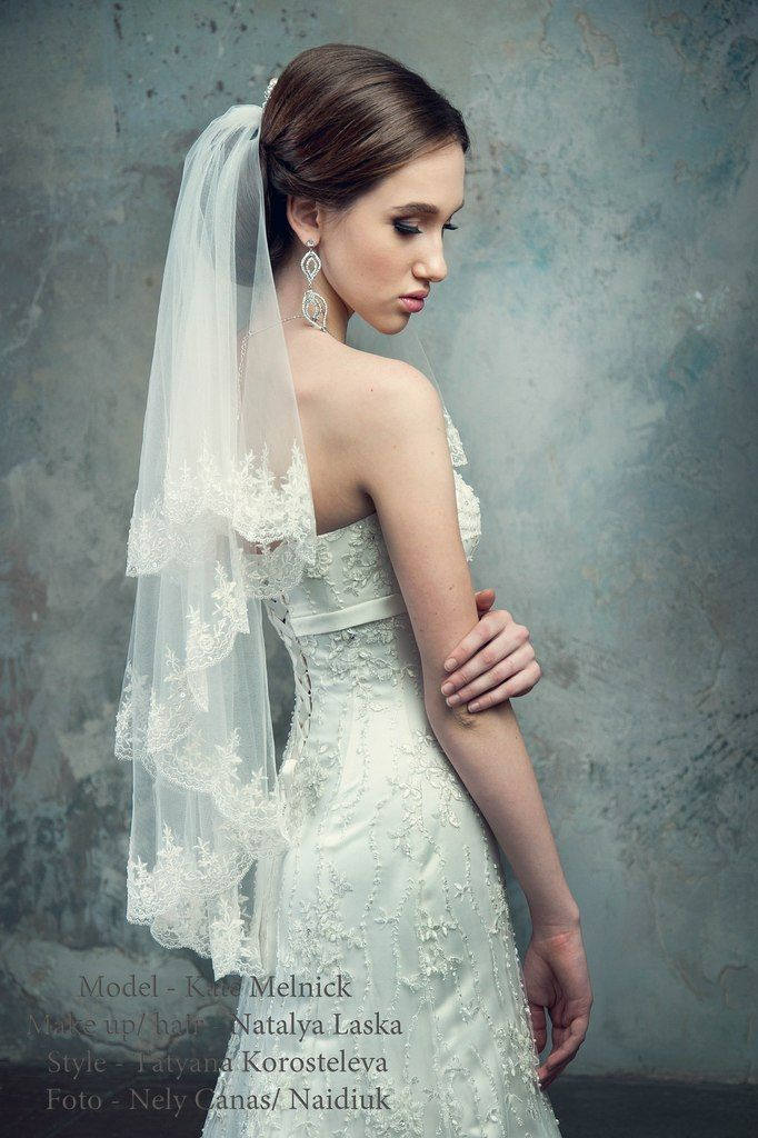 long beaded wedding veil