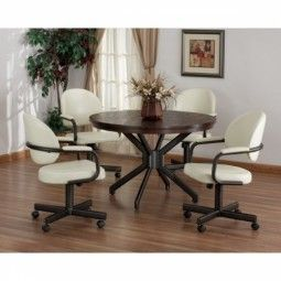 10 best Swivel Tilt Caster Dining Sets images on Pinterest