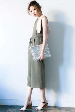 涼しげに着たいなら♡ガウチョオールインワンコーデ♪スタイル・ファッションの参考に☆