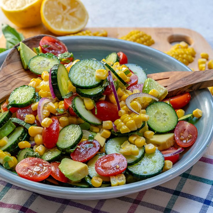 Fresh and Clean Avocado Corn Chopped Salad – Recipes