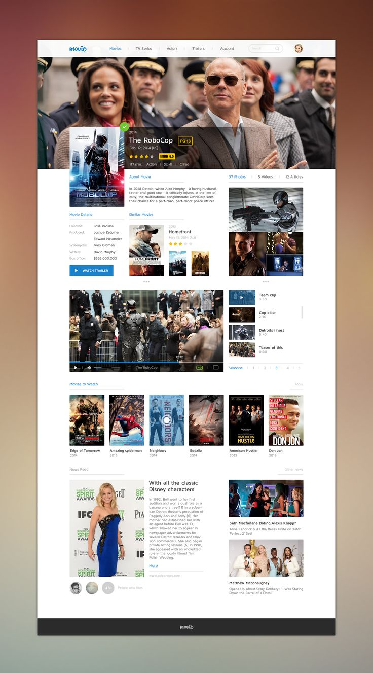 Movie UI by Levani Ambokadze