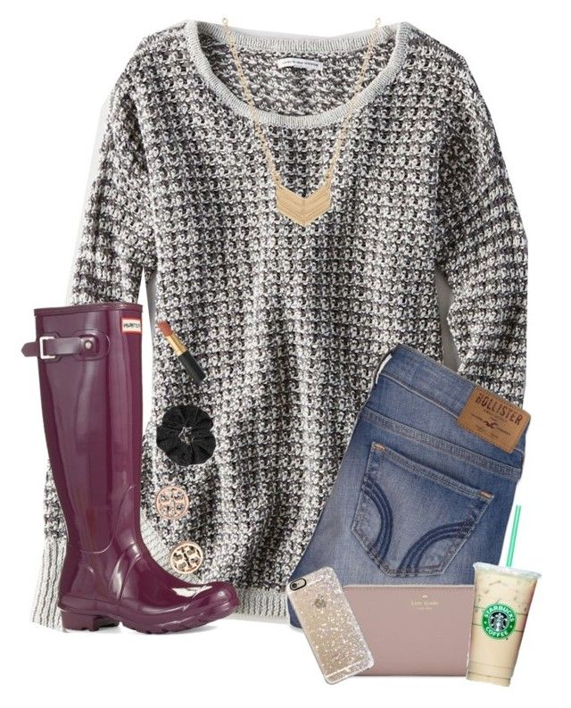 """""""Family reunion outfit"""" by liv-adela ❤ liked on Polyvore featuring American Eagle Outfitters, Essentia By Love Lily Rose, Hollister Co., Hunter, Kate Spade, Casetify, Tory Burch and Topshop"""